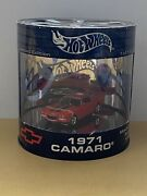 Hot Wheels Oil Can Muscle Car Series Red 1971 Red Camaro Limited Edition 2003