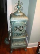 Goldenrod 14,antique,parlor Cast Iron, Woodheater Pot Belly Stove18 Base