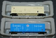 2-exactrail N Scale St. Lawrence And Atlantic And Western Evans 5277 Box Cars-new-