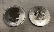 2013 Canadian Maple Leaf | 25th Anniversary | 1 Oz. Silver 5 Coin | Roll Of 25