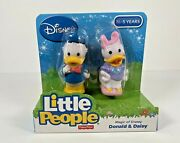 Fisher Price Little People Disney Donald Duck And Daisy Duck Figure Pair Nip
