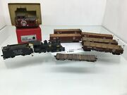 1380 On3 Steam Engine And Tender Westside Caboose 6 Cars O Scale 2 Rail Brass