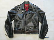 Indian Motorcycle 50s Reprint Riders Jacket Tea Core Horsehide Leather S38