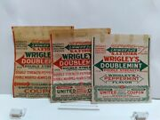 3 Vtg 1920's American Chewing Gum Different Wrapper Wrigley's Doublemint