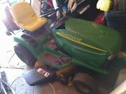 John Deere Lt170 Ride On Mower 16 Hp Sit Down Lawn Tractor With 42 Cutting Deck