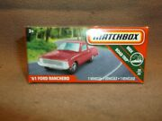 Boxed Matchbox Red 2019 30 1961 Falcon 61 Ford Ranchero Pick Up Farm Truck