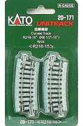 Model Railroad 1/150 Curved Tracks R216-15 Pieces 20-171