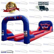 33x10ft Commercial Inflatable Double Lanes Bowling Sport Game With Air Blower