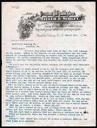 1894 Franklin Venango Co Pa Prospect Hill Stock Farm Miller And Sibley Letter Head