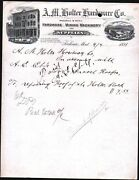 1891 Helena Mt - A H Holter Hardware Co - Mining Machinery - Letter Head History
