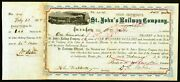 1877 William B Astor Jr Signs Rare Florida Railroad Stock Then To Henry Flagler