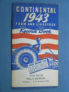 Wwii Our Armed Forces Continental 1943 Farm And Livestock Record Book