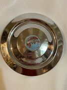 Vintage Used Chrome Triumph Hubcap With World Globe Center Cap 1959 1960 Tr.