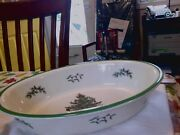 Spode Christmas Tree Oven To Table Oval Casserole Baking Dish 12 1/2 X 9 X 3