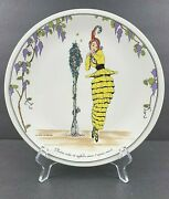 Villeroy And Boch Design 1900 Dinner Plate Vintage 10 3/8andrdquo Petite Woman Yellow