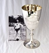 Silver Lord Lonsdale Cumberland Wrestling Trophy 1887. Champion Hexham Clark.