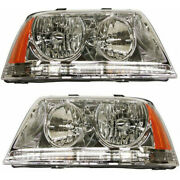 Fits Lincoln Aviator Headlight 2003-2005 Pair Lh And Rh Hid Fo2502205+fo2503205