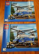 Lego City 4439 Heavy Lift Police Helicopter Instruction Manuals Only1 And 2