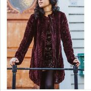 Free People Quilted Velvet Jacket Size M New With Tags