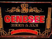 Vintage Genesee Beer And Ale Known For Quality Since 1878 Mirrored Lighted Sign