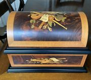 Romance By Reuge Treasure Chest Music Box - 6 Metal Discs