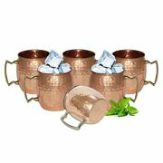 Solid Copper Moscow Mule Mug/cups 550 Ml/18 Oz Set Of 100 Pure Hammered