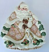 Fitz And Floyd Classics Old World Father Christmas Rabbit Plate Holiday Platter