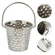 1pc Stainless Steel Hammer Point Ice Wine Bucket Beer Bucket For Bar Silver