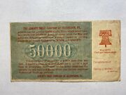 Bank Advertising On Real 1921 Russian 50000 Ruble Note - Great Historical Item