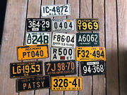 1953 / 54 Wheaties Cereal Miniature Metal License Plate Lot Of 15