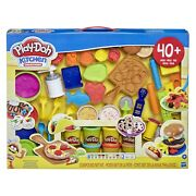 Play-doh Kitchen Creations Deluxe Dinner Playset With 10 Cans Of Play-doh
