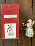 Hallmark 2021 Repaint Event Exclusive Whittaker Q Snowman Snowtop Lodge Special