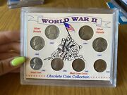 United States World War Ii Wwii Obsolete Coin Collection 8 Coins 1 5 Cent