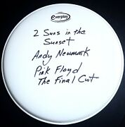 Signed Andy Newmark Pink Floyd The Final Cut Drum Head Rare Roger Waters