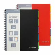 Spiral Notebook - 5 Subject Notebook College Ruled Notebook 3-hole Punched