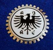Chrome Adac German Chrome Grille Badge License Plate Topper Accessory
