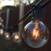 Patio Lights G40 Globe Party String Light Warm 25clear Vintage Bulb 25ft Outdoor