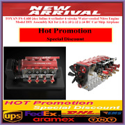Toyan Fs-l400 Engine Four Cylinder 4 Stroke In-line Water Cooled Nitro Rc Model