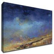 Lost Land By Patrick Dennis 44 X 33 Wall Art Print On Canvas Blue