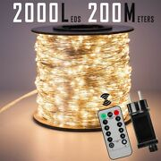 120m 1200leds Silver Wire Fairy String Lights Wateproof Home Outdoor Christmas