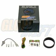 Glowshift Black 7 Color 300 F Water Coolant Temperature Gauge Kit - Includes