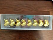 Tiny Trimmings 8 New Glass Rubber Duckies Christmas Ornaments By Department 56