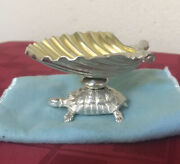 Vintage And Co. Sterling Silver Rare Turtle Shell Top Trinket Jewelry Dish