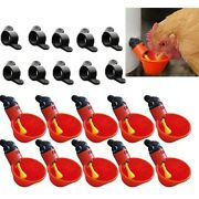 Auto Matic Poultry Water Drinking Cups Poultry Troughs Chicken Troughs Red -uk
