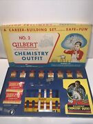 Vintage No.2 Gilbert Chemistry Outfit 1956 Complete Set Rare