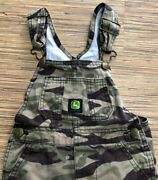 John Deere Camo Overalls Size 2t Toddler Boys Camping Farming Hunting Green
