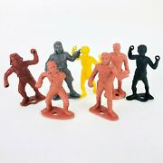 Vintage Mpc Marx Ring Hand Toy Soldiers Lot Pirate Old Vintage Plastic Men Early