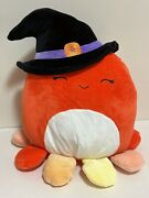 Squishmallows Official 2021 Halloween 12 Detra The Octopus Witch Plush Doll Toy