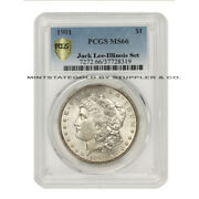 Finest Known 1901 1 Silver Morgan Dollar Pcgs Ms66 Illinois Set And Rare Jack Lee