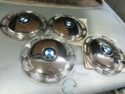 Bmw 13 Hubcaps / Set 4 /straightened Polished And Restored As New